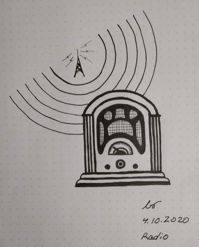 Inktober 2020 Day 4 Radio